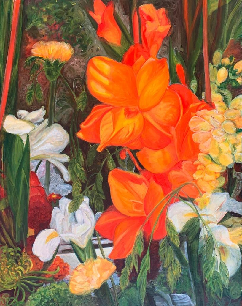 Gigli, 80 x 60 cm, 2019, olio su tela, Tatjana Meier