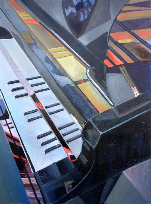 Piano II, 80 x 60 cm, 2012, oil on canvas, Tatjana Meier