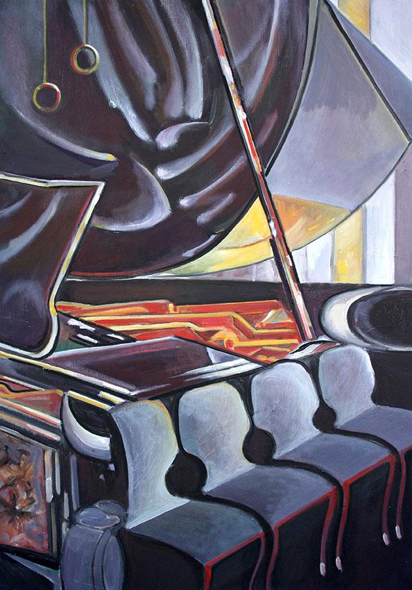 Klavier VI, 70 x 50cm, 2012, Öl auf Leinwand, Tatjana Meier