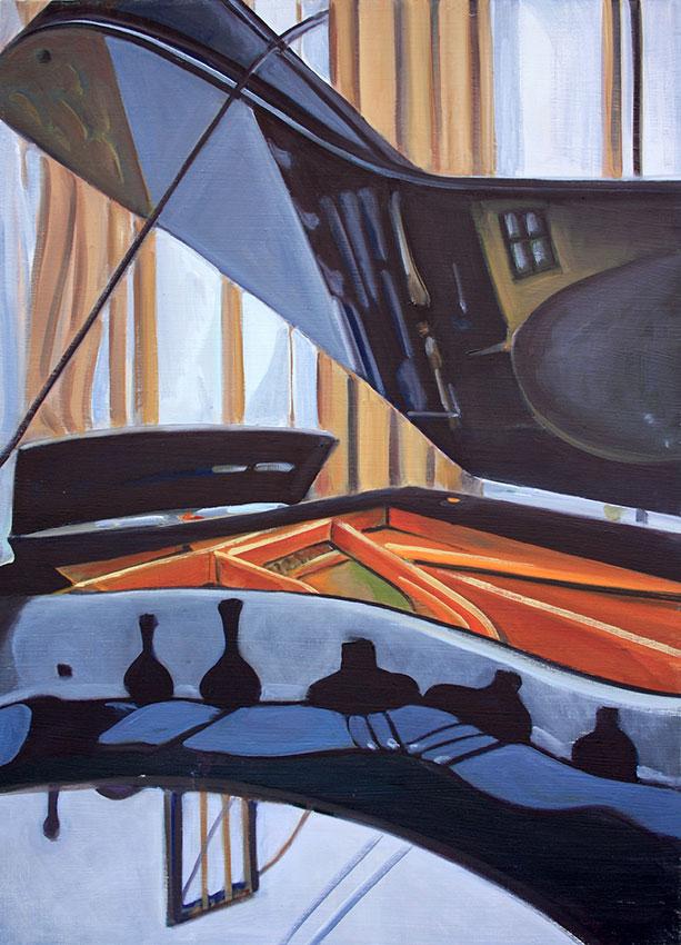 KLavier V, 70 x 50 cm, 2012, Öl auf Leinwand, Tatjana Meier