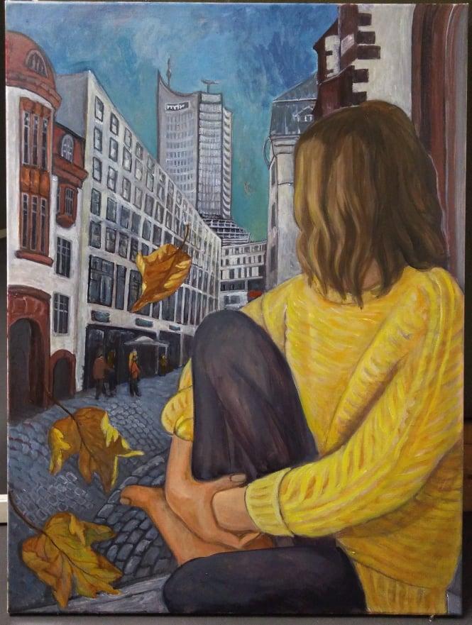 Alma mater, 80 x 60cm, 2020, olio su tela, Tatjana Meier