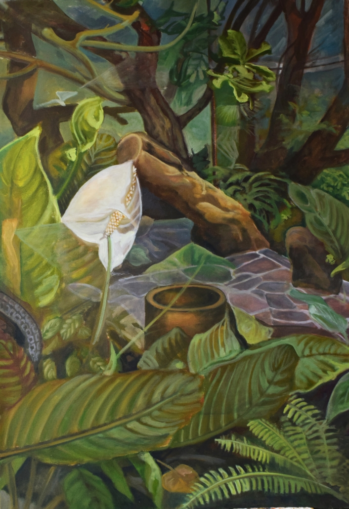 Foresta pluviale III (Gondwana Lipsia), 80 x 60 cm, olio su tela, Tatjana Meier