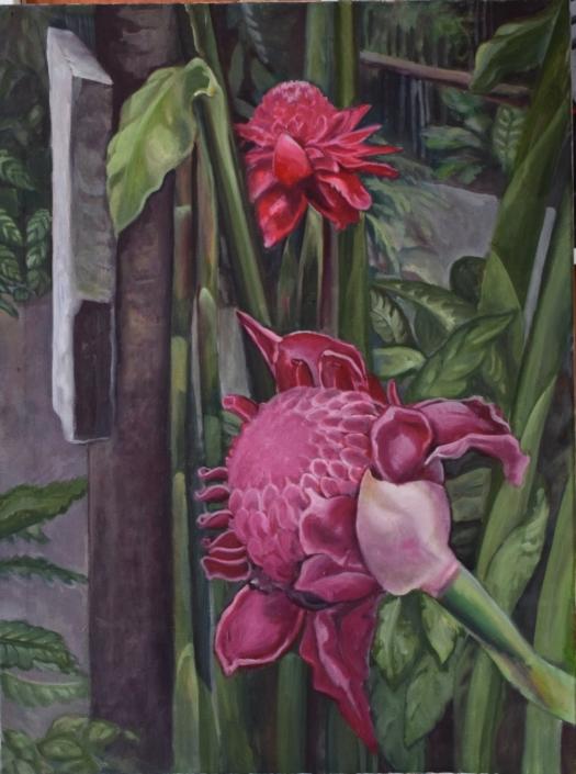 Regenwald IV (Gondwana Leipzig), 70 x 50 cm, 2016, Tatjana Meier