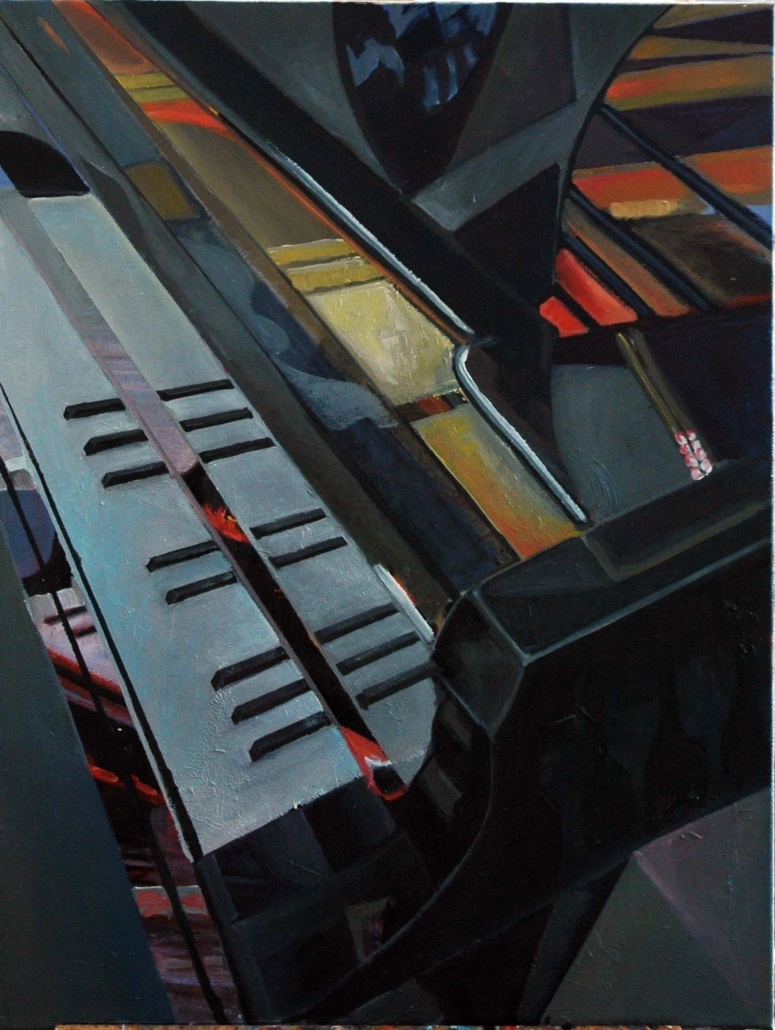 Klavier II, 80 x 60 cm, 2012, Öl auf Leinwand, Tatjana Meier