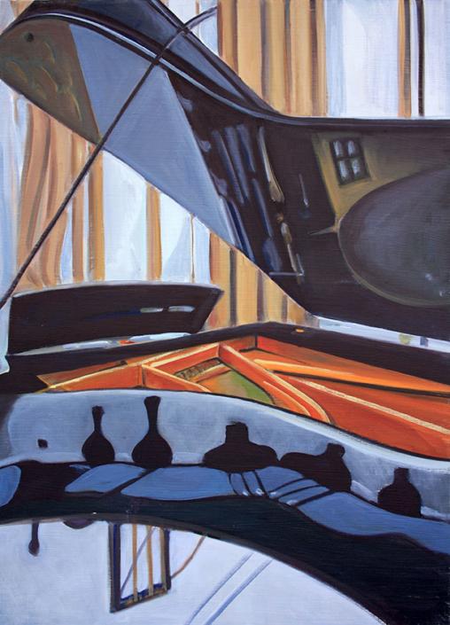 Pianoforte V, 70 x 50 cm, 2012, olio su tela, Tatjana Meier