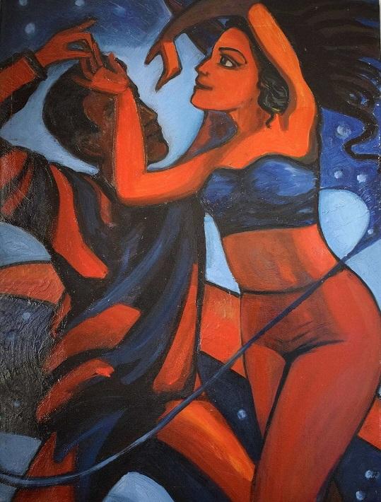 Tanz in die Nacht, 80 x 60 cm, 2008, Öl auf Leinwand, Tatjana Meier