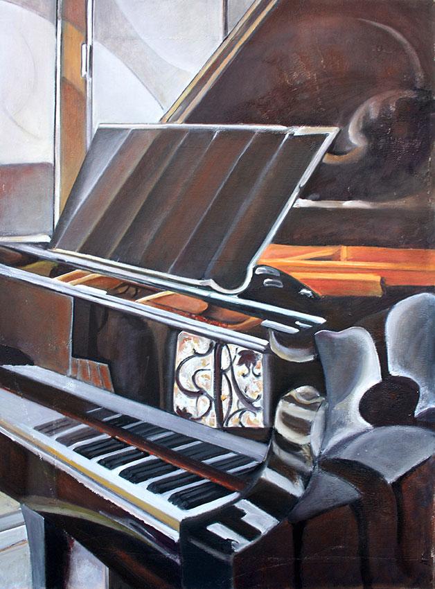 Klavier IV, 80 x 60 cm, 2012, Öl auf Leinwand, Tatjana Meier