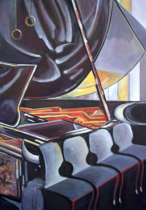 Piano VI, 70 x 50cm, 2012, oil on canvas, Tatjana Meier