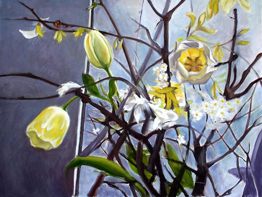 Tulpen, 60 x 80 cm, 2012, Öl auf Leinwand, Tatjana Meier